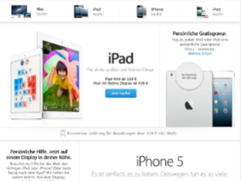 Mehr Bilder, weniger Text: Apple Online Store ab sofort mit neuem Design und PayPal-Zahlung