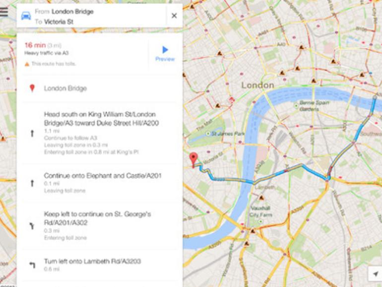 Google Maps mit iPad-Unterstützung erschienen