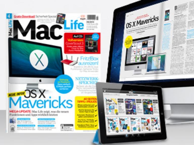 Sicherheit-Spezial, OS X Mavericks, NAS-Systeme im Test und vieles mehr