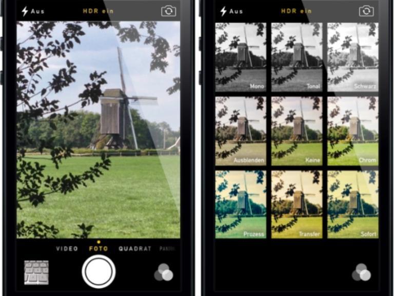 iOS 7: Ausprobiert - Die neue Kamera-App in der Praxis