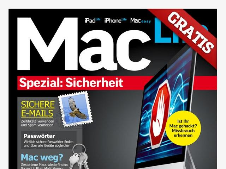 """GRATIS: Mac-Life-Sonderheft """"Sicherheit"""" kostenlos"""