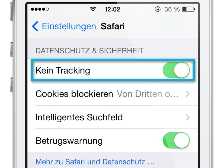 """iOS 7: """"Do Not Track""""-Funktion in Safari für mehr Datenschutz aktivieren"""