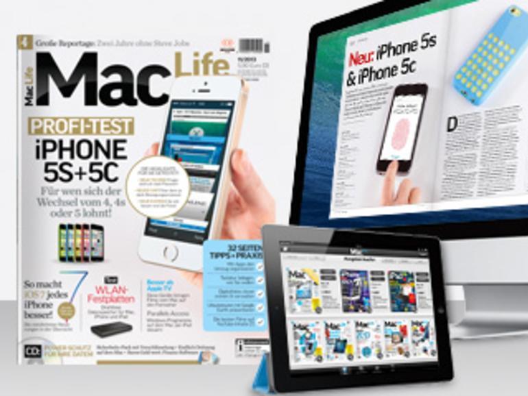 Profi-Test iPhone 5s + 5c, iOS 7, WLAN-Festplatten, Alternativen zu Apple TV