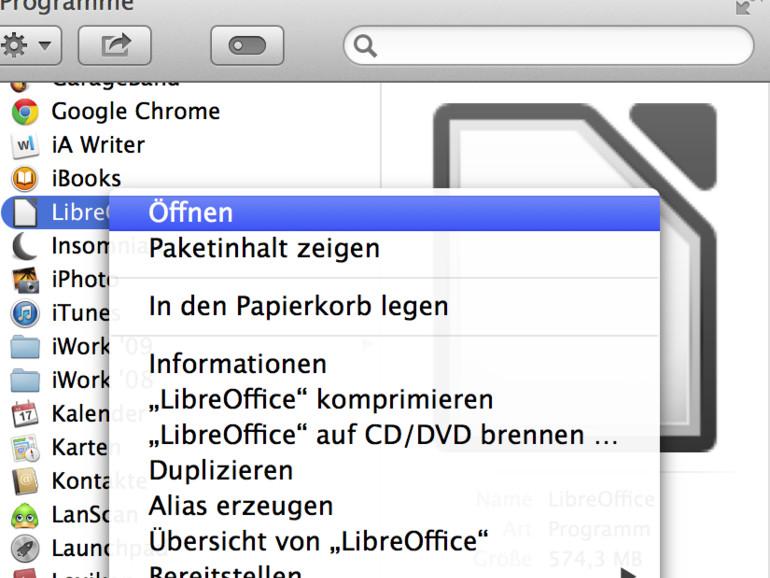 OS X Mavericks: Gatekeeper schnell umgehen