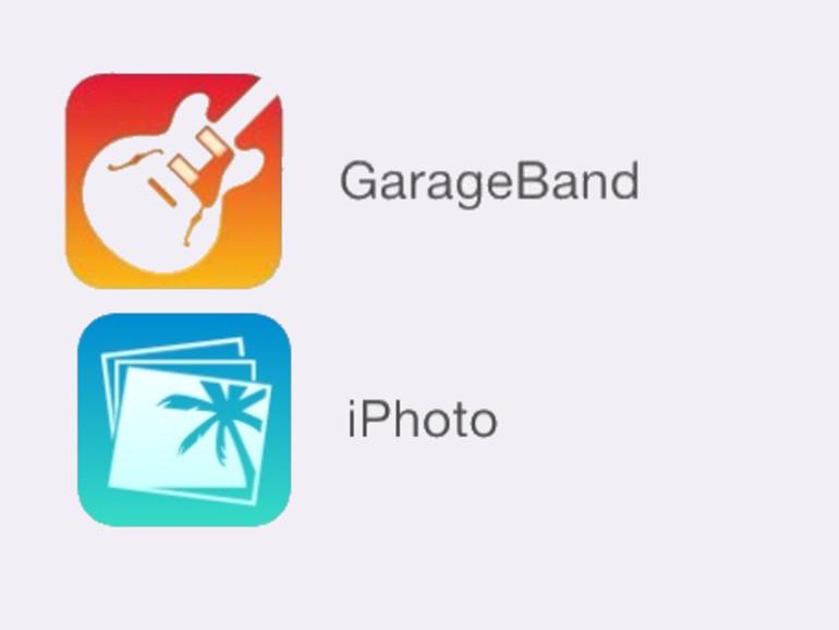 Neue iPhoto- und GarageBand-Icons für iOS tauchen auf