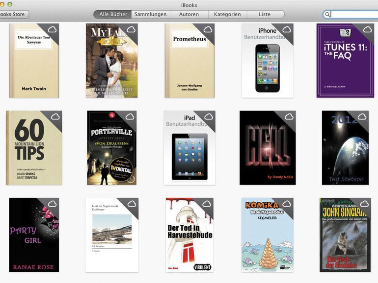 iBooks-Einkäufe werden auf dem Mac via iCloud synchronisiert.