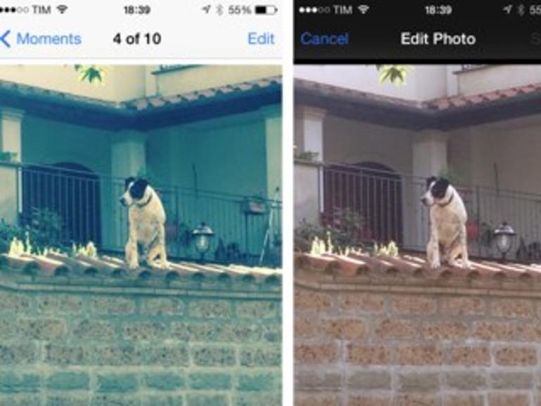 iPhoto 2.0 für iOS kann bearbeitete Fotos unmittelbar speichernund direkt aus der Kamerarolle löschen