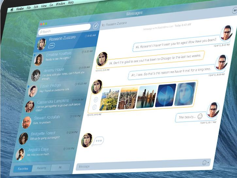 OS X Syrah: So könnte die neue Nachrichten-App aussehen