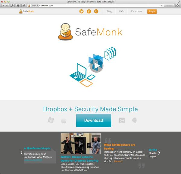 Dropbox absichern mit SafeMonk