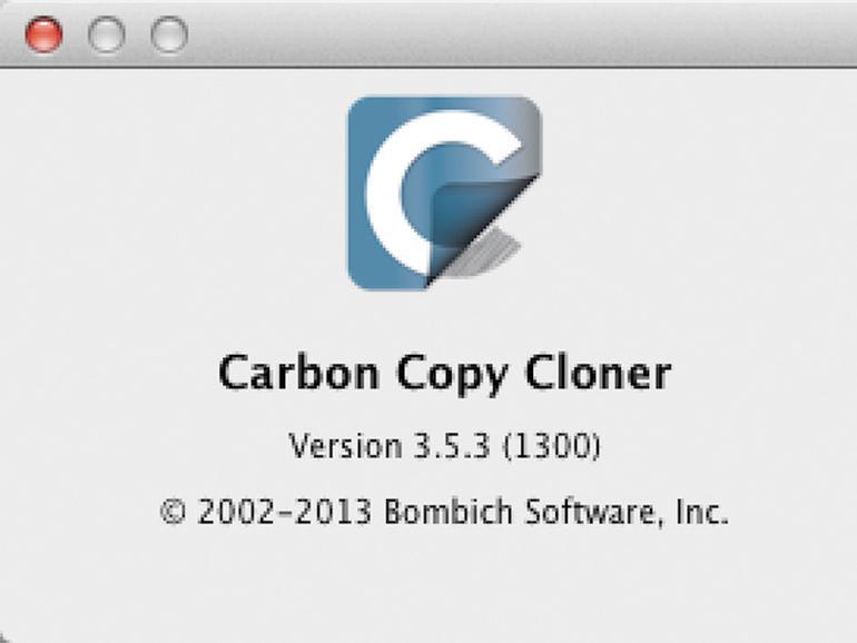 """Die Versionsnummer erfahren Sie über das Menü """"Carbon Copy Cloner""""."""