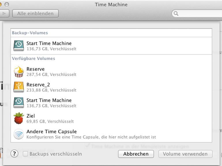 Time Machine sichert am liebsten auf an den Mac angeschlossene Laufwerke oder Apples Netzwerkspeicher Time Capsule.