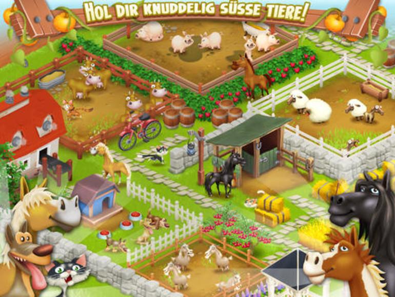 Spiele wie Hay Day gehören dank In-App-Käufen zu den umsatzstärksten Apps.