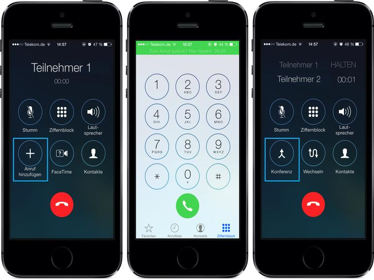 Telefon-Konferenz am iPhone: So funktioniert das Gruppengespräch