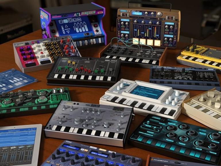 Kompakte DAW mit 15 Synths & Drummern