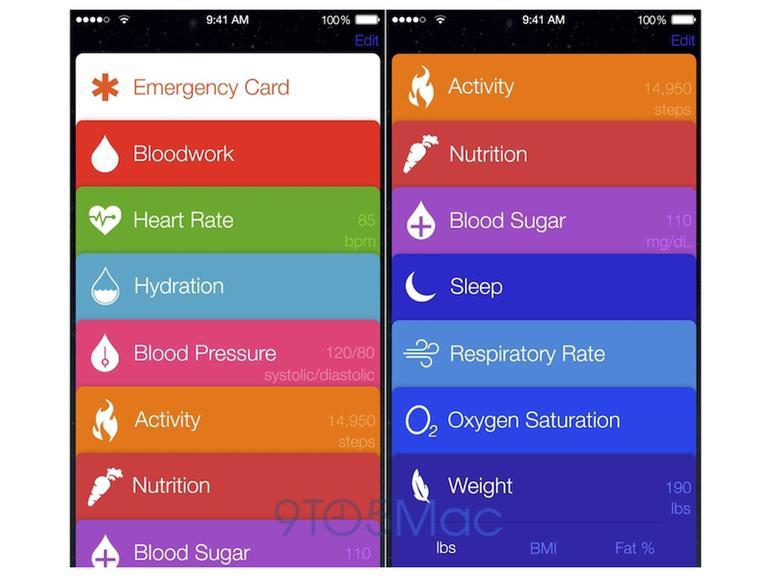 Healthbook-App: So soll Apples Gesundheitsbegleiter aussehen