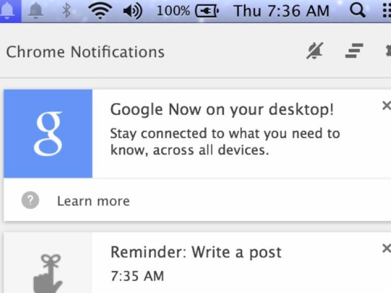 Google Now jetzt auch in Chrome für Mac verfügbar