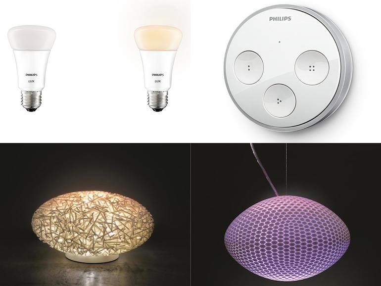 Philips Hue: App-gesteuertes Lichtsystem um weiße Birne, Schalter und luxuriöse Lampen ergänzt