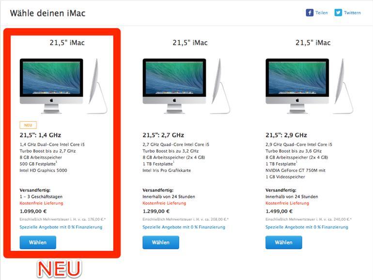 Deutlich günstiger: Apple stellt neuen Einsteiger-iMac vor