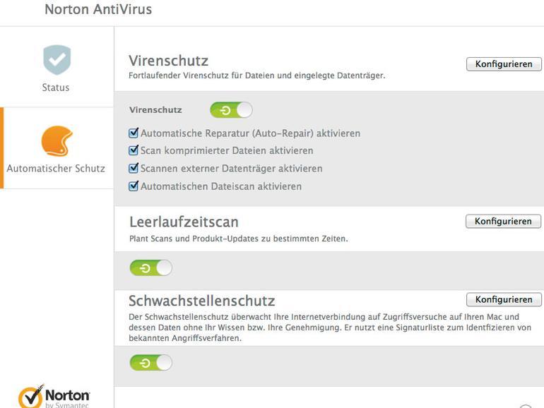 Norton Antivirus besitzt einen Schwachstellenschutz gegen Bedrohungen aus dem Internet.