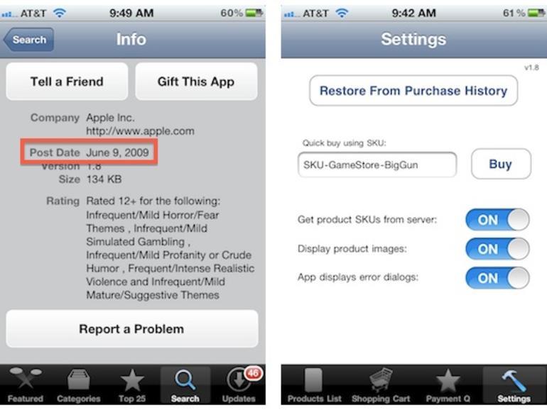 GameStore: Apple veröffentlichte versehentlich interne Test-App