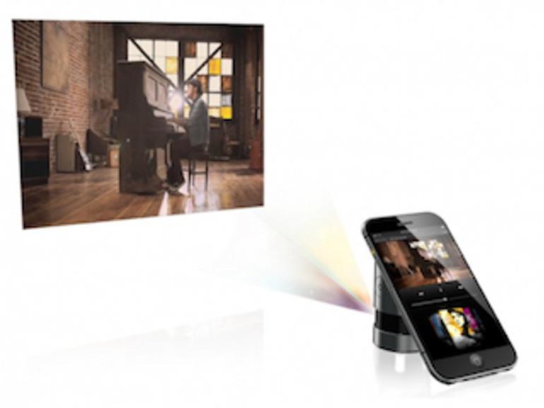 iPhone-Konzept Choi Jinyoung, Beamerleinwand