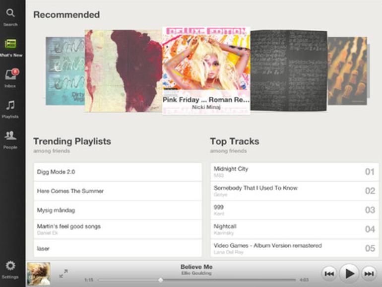 Spotify-App für das iPad erschienen