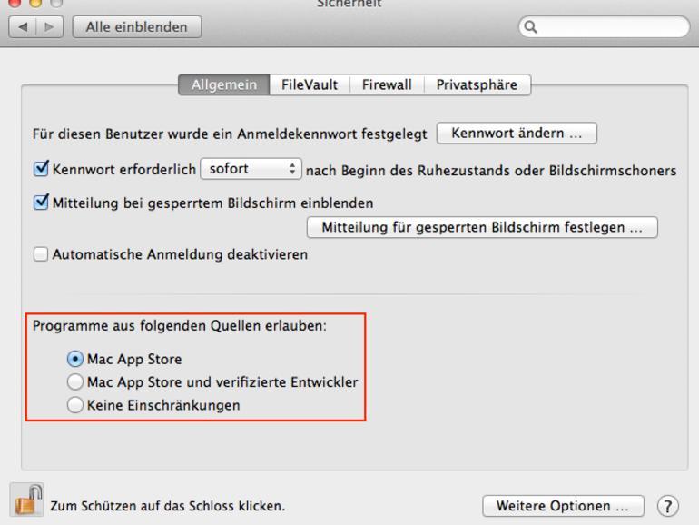 OS X Mountain Lion: Gatekeeper richtig konfigurieren