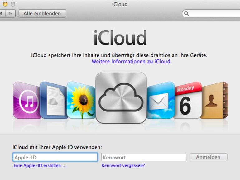 OS X Mountain Lion: Kostenloses iCloud-Konto erstellen