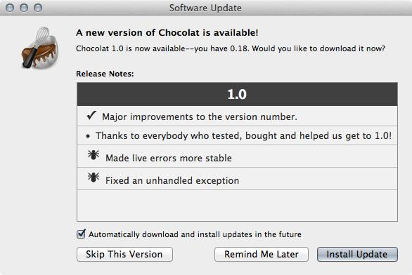 Test: Chocolat, Text-Editor für Mac OS X