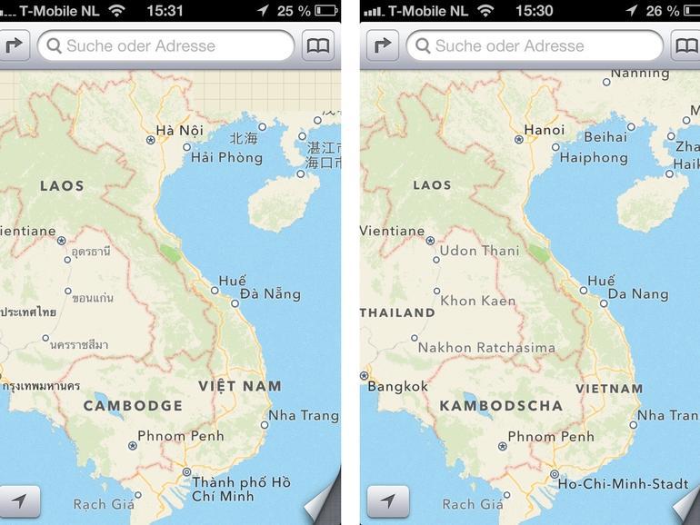 6. Maps: Beschriftungen in Karten-App auf Deutsch anzeigen