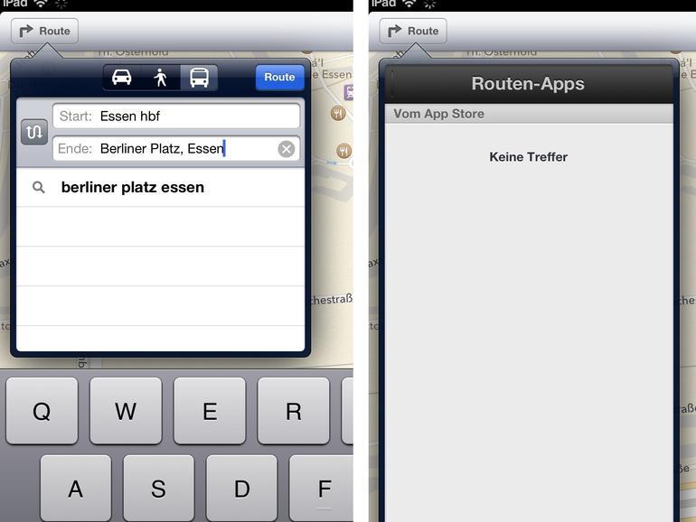 7. Karten-App schlägt weiterführende Apps vor