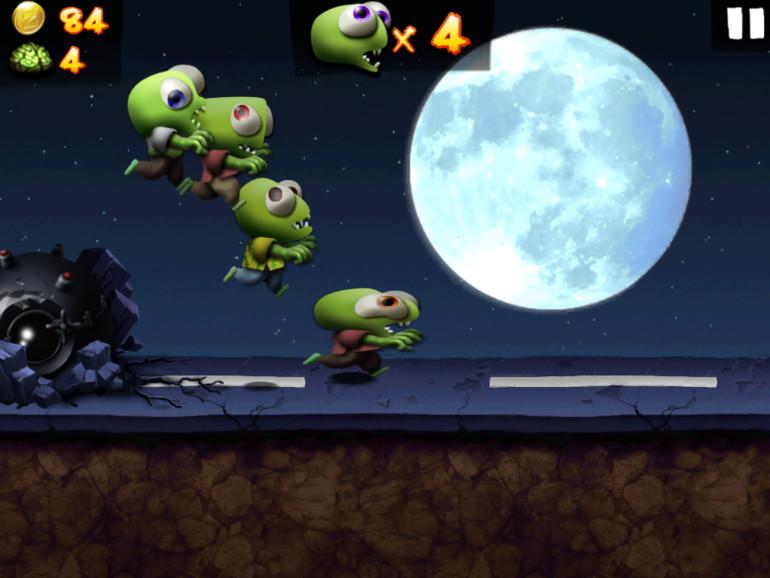 2. Zombie Tsunami (iOS-Universal; kostenlos)