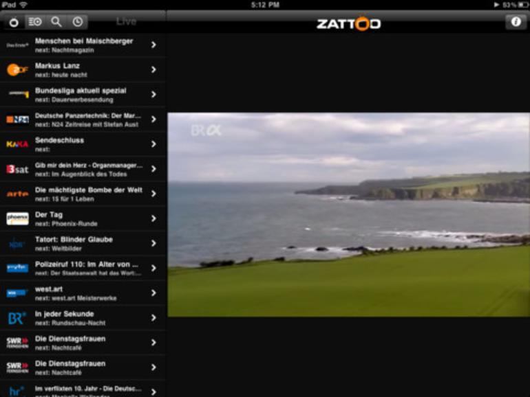 TV DIGITAL: Zattoo Live Fernsehen