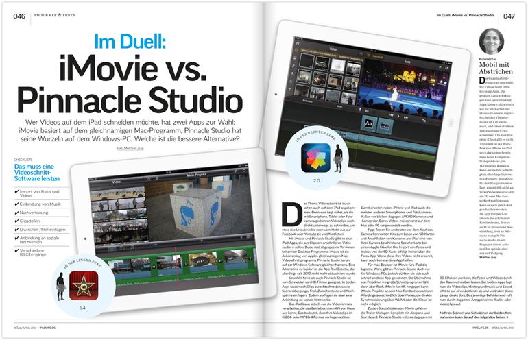 Duell: Apple iMovie gegen Pinnacle Studio
