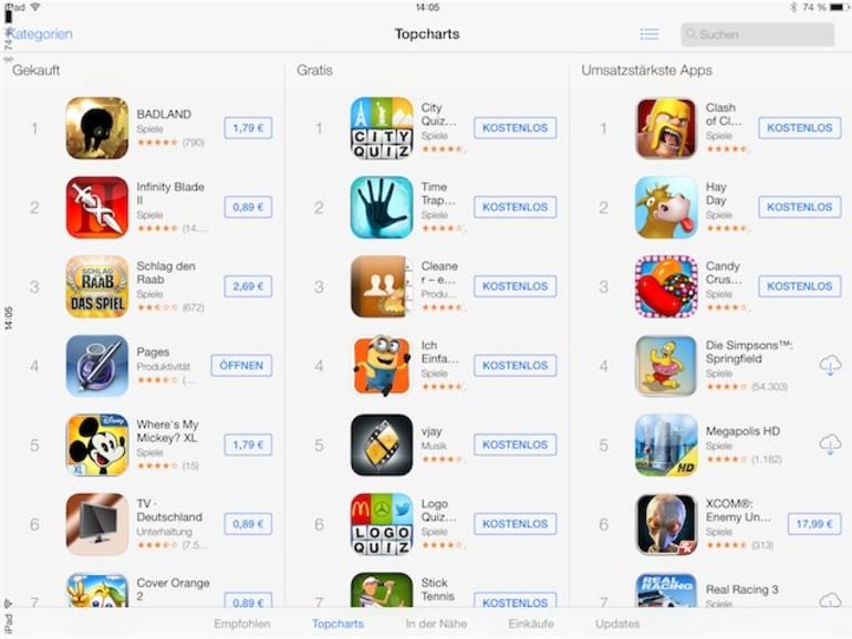 Neue, alte App-Ansicht