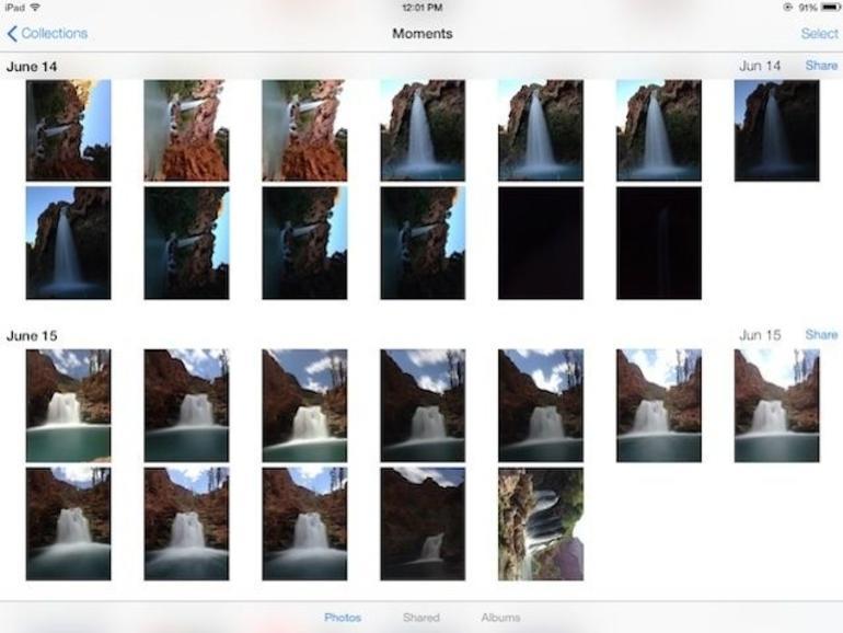 Übersichtliche Foto-App