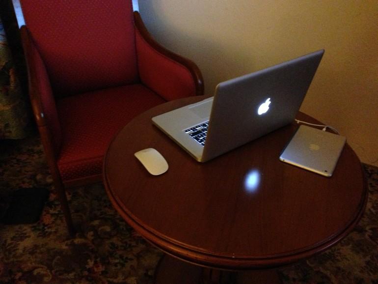 Auf dem Hotelzimmer