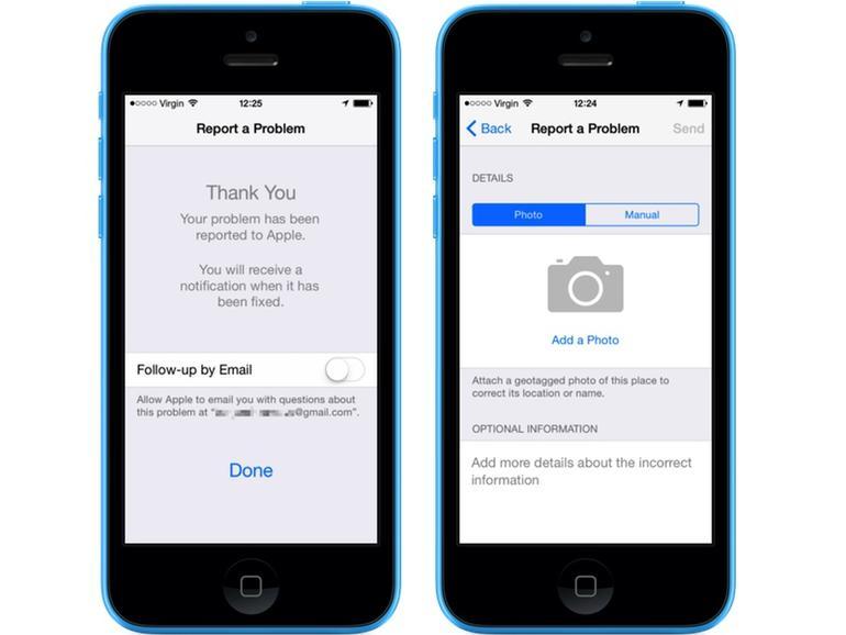Apple Maps unter iOS 8 bekommt Funktionszuwachs: Meldung von Verbesserungen und Fotos von Standort hinzufügen