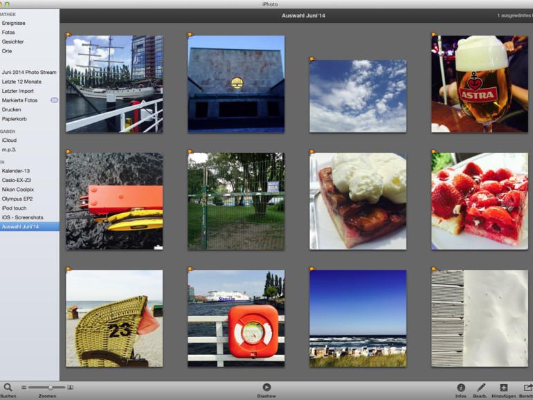 Alben: Apple liefert iPhoto ohne Album aus Dabei lassen sich hier Bilder in Alben und Alben in Ordner ablegen. Nutzen Sie iPhoto-Alben zur persönlichen Organisation.