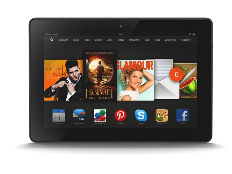 Amazons Kindle Fire HDX gibt es in verschiedenen Bildschirmgrößen. Und das Tablet ist überaus günstig zu erwerben.
