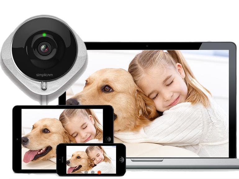 smart home wlan kamerasystem simplicam erlaubt haus. Black Bedroom Furniture Sets. Home Design Ideas
