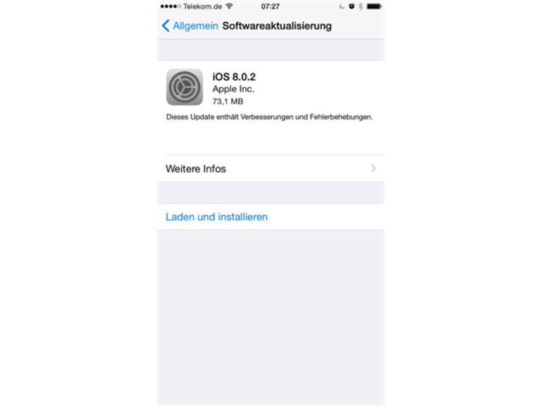iOS 8.0.2 ersetzt iOS 8.0.1 und behebt damit verbundene Probleme