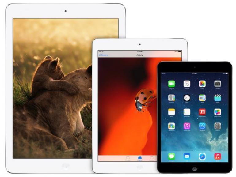 Alle drei iPad-Größen auf einem Blick.