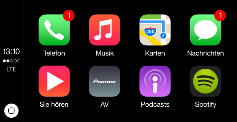 Apple CarPlay – der Starbildschirm