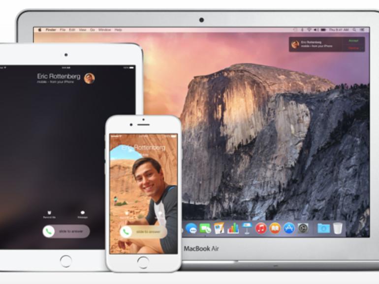 iOS 8 und OS X 10.10 Yosemite ermöglichen Telefonate vom Mac