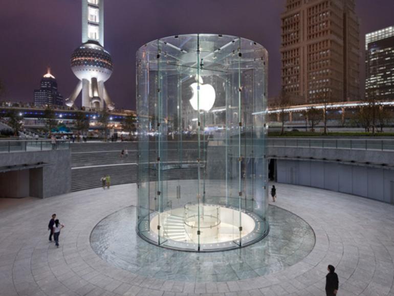Der Apple Store in Shanghai gilt als einer der luxuriösesten der Welt