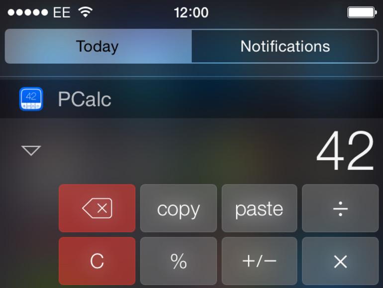 PCalc muss seine Widget-Funktion entfernen
