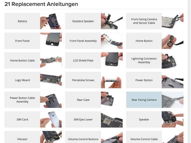 iFixit-Reparaturanleitungen für das iPhone 6/ 6 Plus