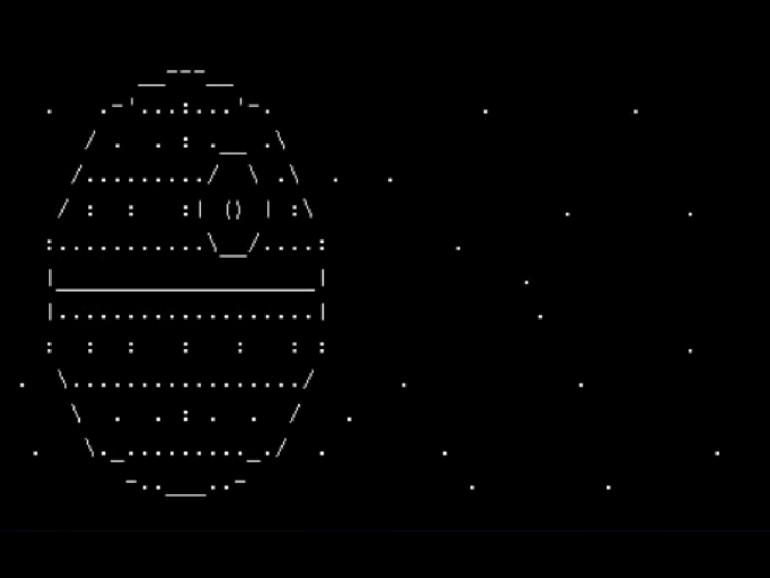 Der Todesstern in ASCII