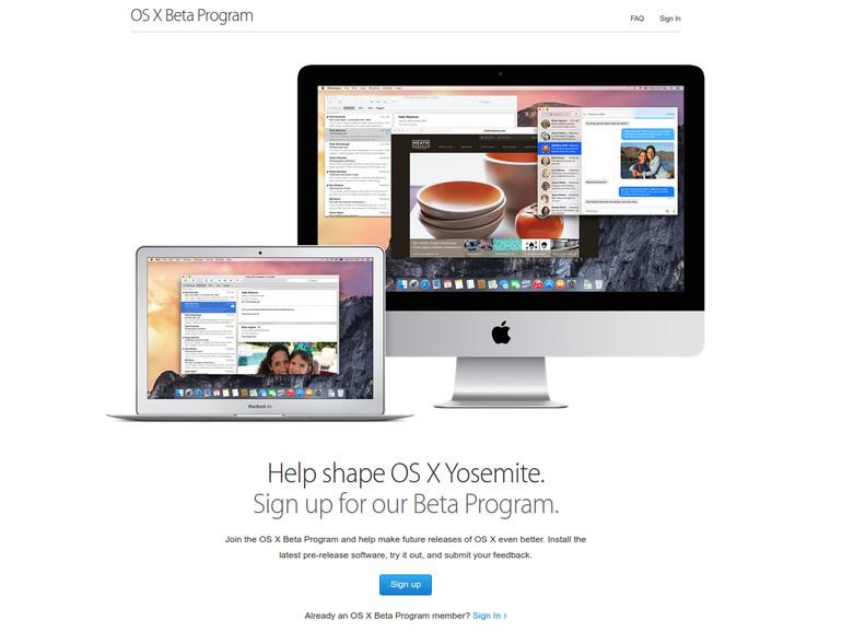 Apples nächstes großes Betriebssystem-Update OS X 10.10.2 geht in die vierte Runde seines Beta-Tests